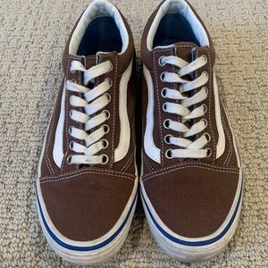 Vans old skool dark brown shoes